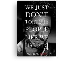 American Mary Evil Dead Style Poster (Billy) Canvas Print