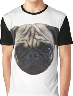 Cute Caesar the Pug Face by AiReal Apparel Graphic T-Shirt