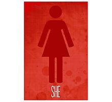 She Poster 2 Photographic Print