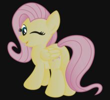 Fluttershy being Cute (from My Little Pony: Friendship is Magic) Kids Tee