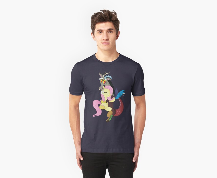 Fluttershy and Discord (My Little Pony: Friendship is Magic) by broniesunite