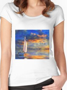 As the Wind Dies Women's Fitted Scoop T-Shirt
