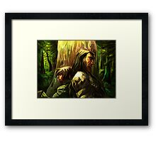 Wolf and Hound Framed Print
