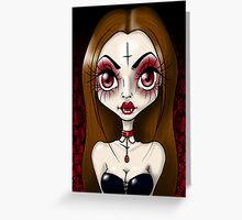 Seductive Vampiress Greeting Card