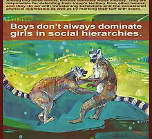 Defending her territory (Ring-tailed lemur) - POSTER by Gwenn Seemel