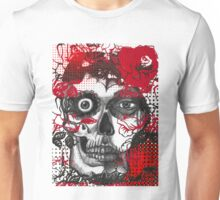 day of the dead, roses halftone Unisex T-Shirt