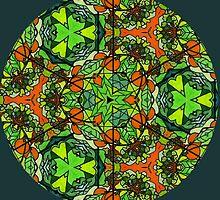 Kaleidoscope with Orange Tree by Jorge H. Elias