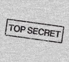 Top secret, black grunge stamp One Piece - Short Sleeve