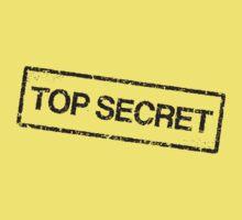 Top secret, black grunge stamp Kids Clothes