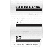 The Usual Suspects (Alternative poster) Poster