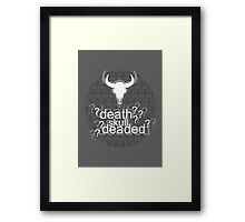 Deaded? - Drunk Deductions Framed Print