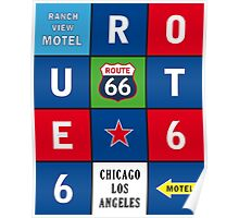 Route 66 Sixty-Six Road USA Print Posters Decoration Poster