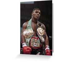 Mike Tyson Young Win Design  Greeting Card