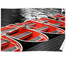 Little Red Rowing Boats Poster