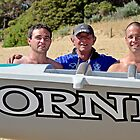 Lorne's McCombes  - surfboat rowers - color by Andy Berry