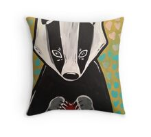 Quit Badgerin' My Heart. Throw Pillow
