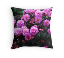 A bunch of pretty pink flowers Throw Pillow