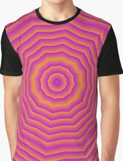 Psychedelic Seventies spider web Graphic T-Shirt