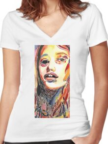 Let Go Or Be Dragged Women's Fitted V-Neck T-Shirt