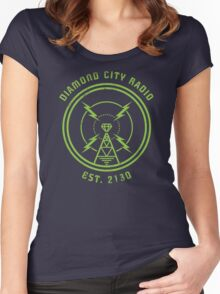 DIAMOND CITY RADIO Women's Fitted Scoop T-Shirt