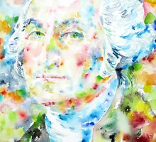 GEORGE WASHINGTON - watercolor portrait by lautir