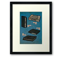 The History of PlayStation Framed Print