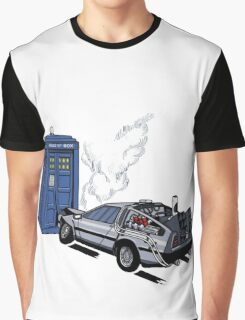 DeLorean vs Tardis [Drawing] Graphic T-Shirt
