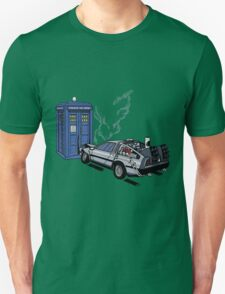 DeLorean vs Tardis [Drawing] Unisex T-Shirt
