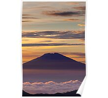 Pink volcano Poster