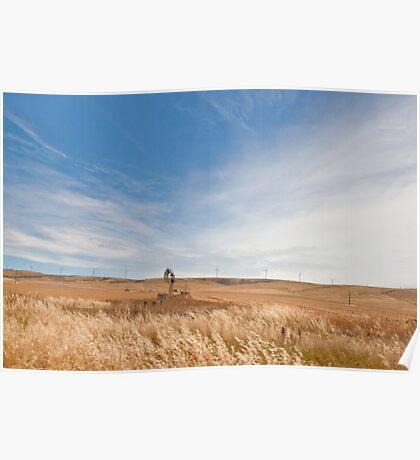 Windmills - South Australia Poster