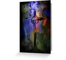 Cross with crown. Greeting Card