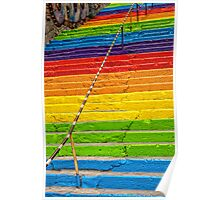 Colorful stairs Poster