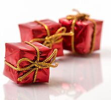 Red Gift Boxes by TOM KLAUSZ
