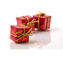 Red Gift Boxes Photographic Print