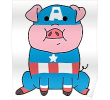 Captain Ameripig Waddles Poster
