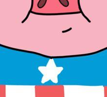 Captain Ameripig Waddles Sticker
