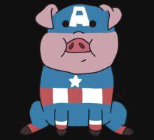 Captain Ameripig Waddles One Piece - Short Sleeve