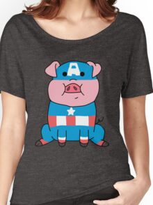 Captain Ameripig Waddles Women's Relaxed Fit T-Shirt