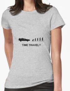 Time travel and evolution Womens Fitted T-Shirt