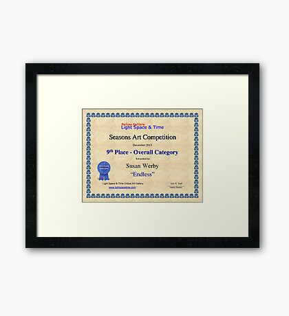 9th Place-Seasons Competiton-Endless Framed Print