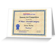 9th Place-Seasons Competiton-Endless Greeting Card