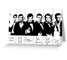 James Bond - multiple actors with signatures Greeting Card