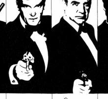 James Bond - multiple actors with signatures Sticker