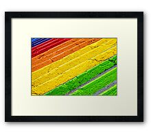 Colorful stairs Framed Print