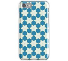 Blue cubes and green stars - tessellation iPhone Case/Skin