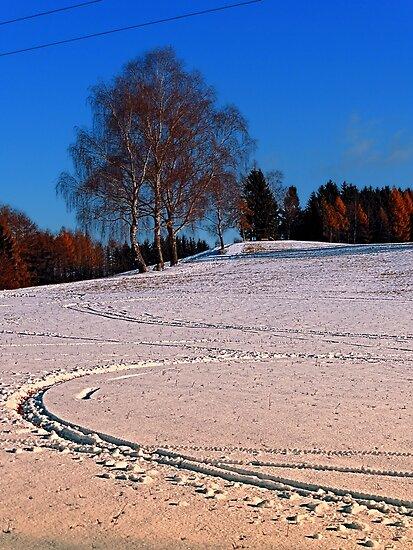 Hiking through winter wonderland III | landscape photography by Patrick Jobst