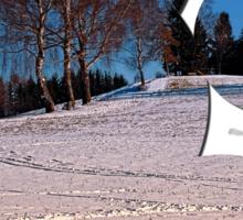 Hiking through winter wonderland III | landscape photography Sticker