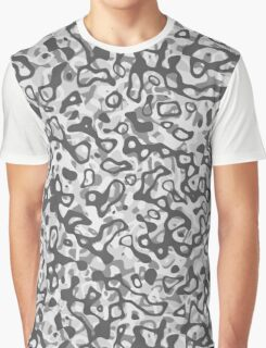 Multi Layer Abstract Pattern Grey 2 Graphic T-Shirt
