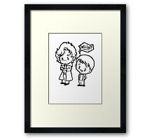 Sherlock and John - Brilliant - B&W Framed Print