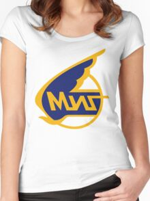 Mikoyan-Gurevich (Russian Aircraft Corporation MiG) Logo Women's Fitted Scoop T-Shirt